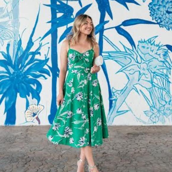 ae0d2aa51c30 Eliza J Dresses   Skirts - Eliza J Tie Front Fit   Flare Midi Dress